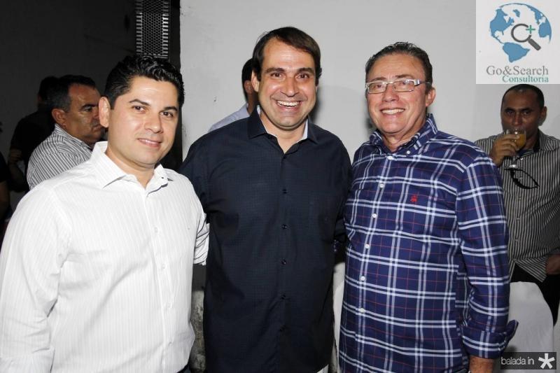 Pompeu Vasconcelos, Salmito Filho e Darlan Leite