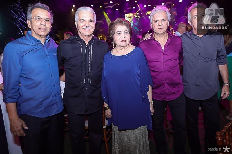 Eduardo, Pio, Edir, Ricardo e Clovis Rolim