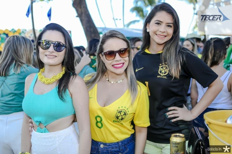 Paula Oliveira, Tarcyanne Ribeiro e Milena Daniel