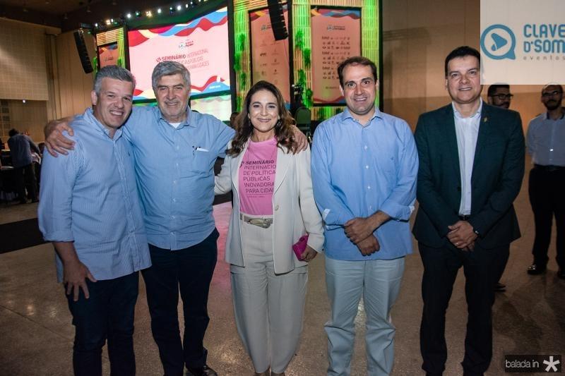 Ferruccio Feitosa, Amarilio Macedo, Patricia Macedo, Salmito Filho e Esio Feitosa