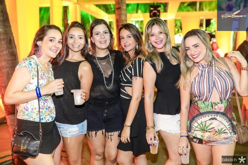 Lidiane Cavalcante, Alessandra Alex, Vivian Pasqualoto, Aline Gomes, Renata Fernandes e Naiara Moura