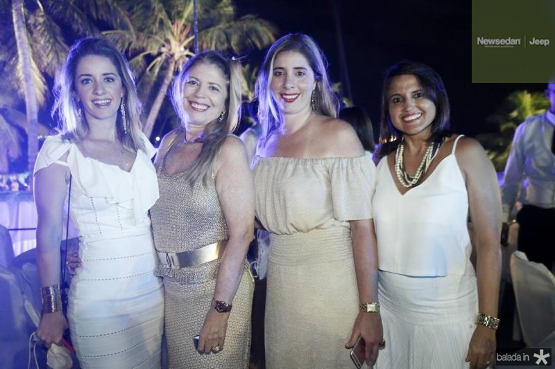 Livia Holanda, Ines e Melissa Aguiar e Karina Leite