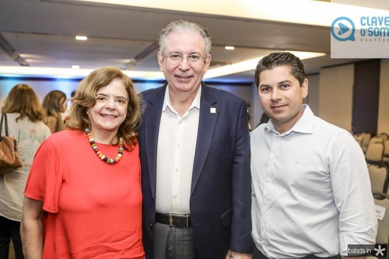 Roseane Medeiros, Ricardo Cavalcante e Pompeu Vasconcelos