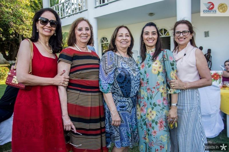 Glaucia Ferrer, Gleyce Lucena, Gleyde Lucena, Carolina Abreu e Fatima Goncalves