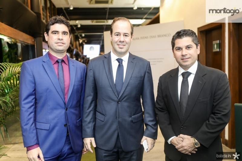 Bruno Barreira, Cesar Ribeiro e Pompeu Vasconcelos
