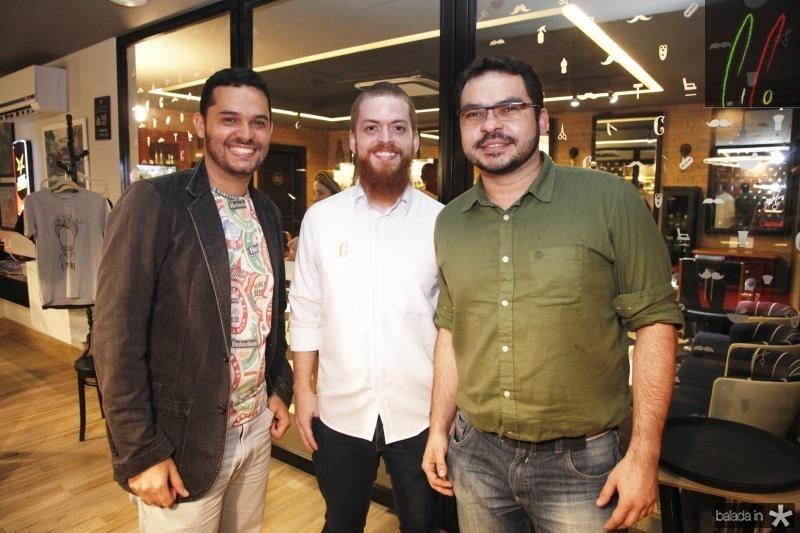 Augusto Cesar, Felipe Cabral e Renato Brasil