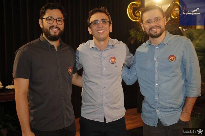 Andre Miazaki, Marcel Pinheiro e Padua Sampaio