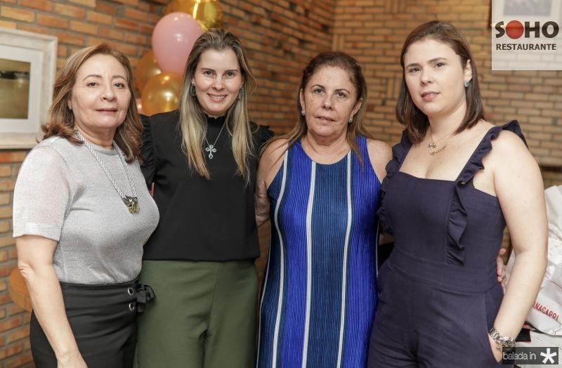 Carminha Bantin, Adriana Loureiro, Virginia e Rafaela Morais