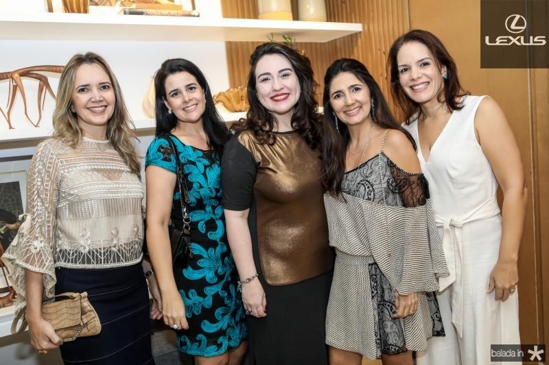 Cristiane Cabral, Paola Lopes, Rochele Aguiar, Luciana Cidrao e Raquel Cerejo