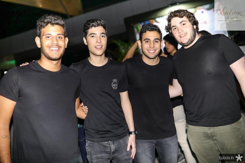 Luca Lima, Lucca Dias Branco, Gabriel Pinheiro e Luciano Dias Branco