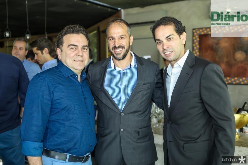 Fernando Linhares, Carlo Moratelli e Claudio Vale