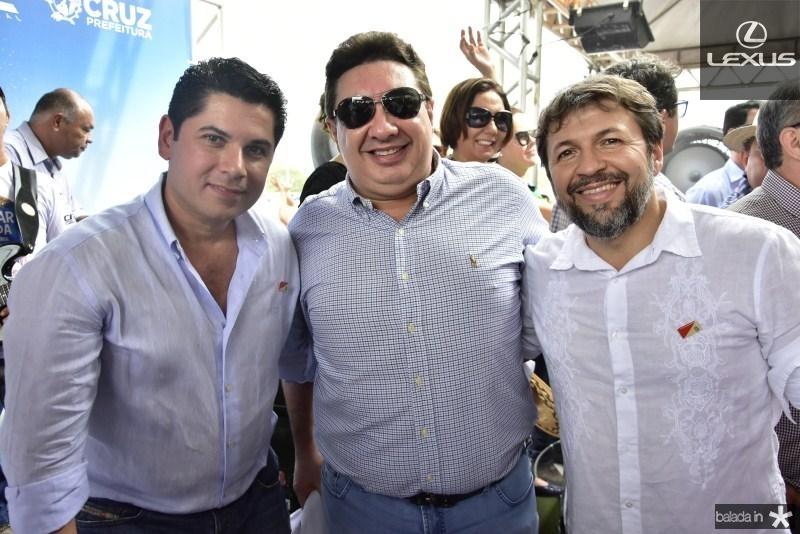 Pompeu Vasconcelos, Marcos Dias Branco e Elcio Batista