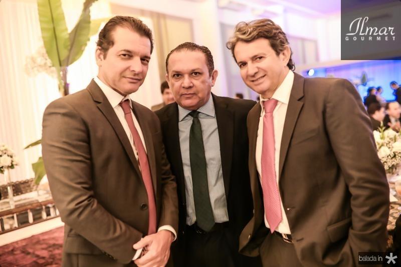 Claudio Moreira, Max Bezerra e Aderaldo Silva