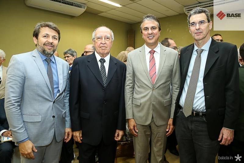 Elcio Batista, Lucio Alcantara, Camilo Santana e Geraldo Luciano