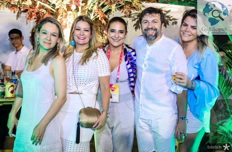 Erica Lima, Tatiana Luna, Patricia Macedo, Elcio Batista e Lana Pinheiro
