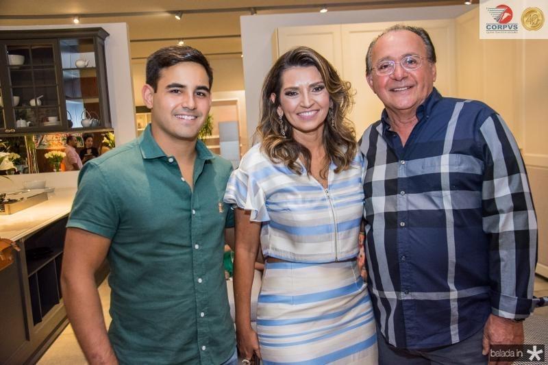 Stenio Filho Rios, Marcia Travessoni e Stenio Rios