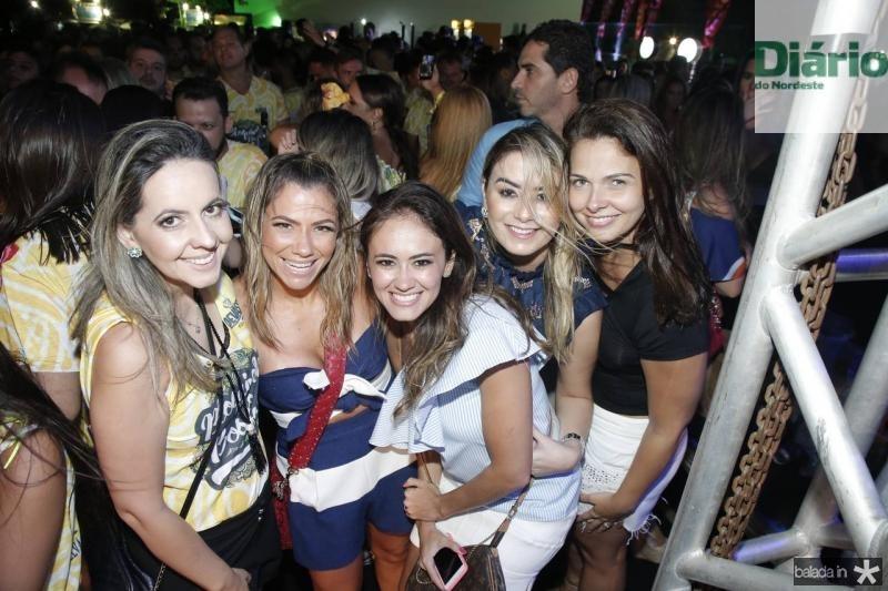Aline Amorim,Vanessa Queiros, Mirela Bezerra, Marina Pimenta e Rafaela Carlos