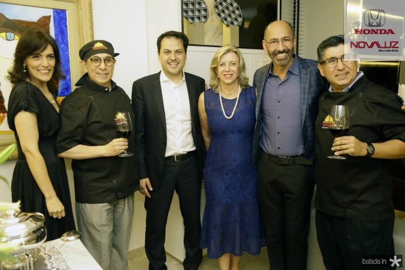 Janusa Brasil, Javier Yugar, Mauricio Maia, Ana Luiza, Michel Farah e Juan Carlos Yugar