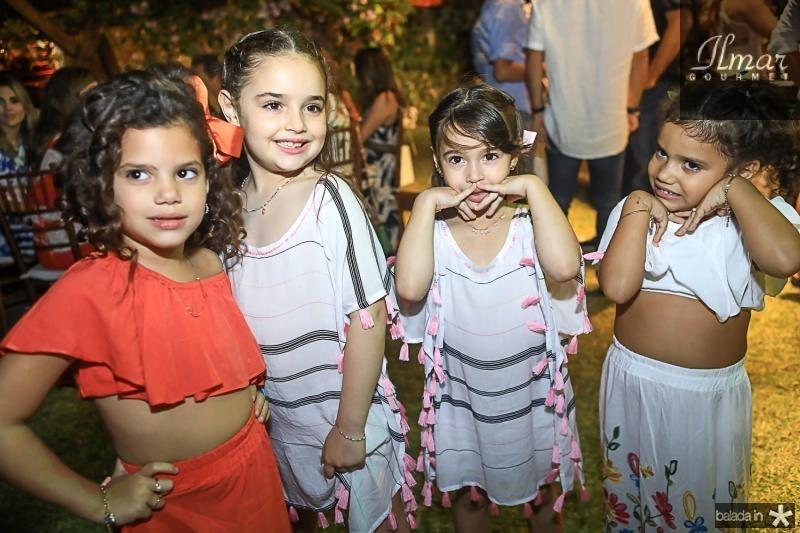 Sofia Fontenele, Victoria e Olivia Carvalho, Ines Fontenele