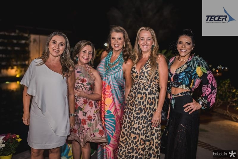 Aninha Nobrega, Virginia Holanda, Alexandra Pinto, Karine Arraes e Salete Maciel