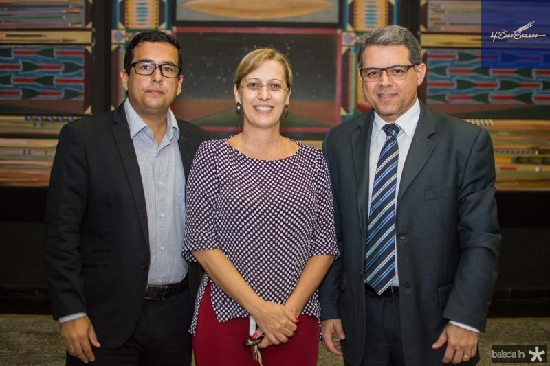 Victor Pimentel, Silvia Freitas e Cristian Pinheiro