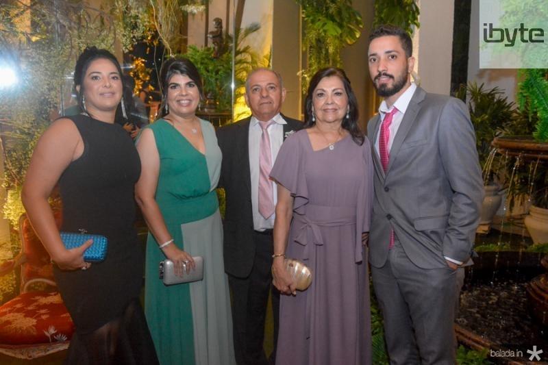 Garciana Menezes, Lana, Wiliam, Regina e Caleu Aguiar