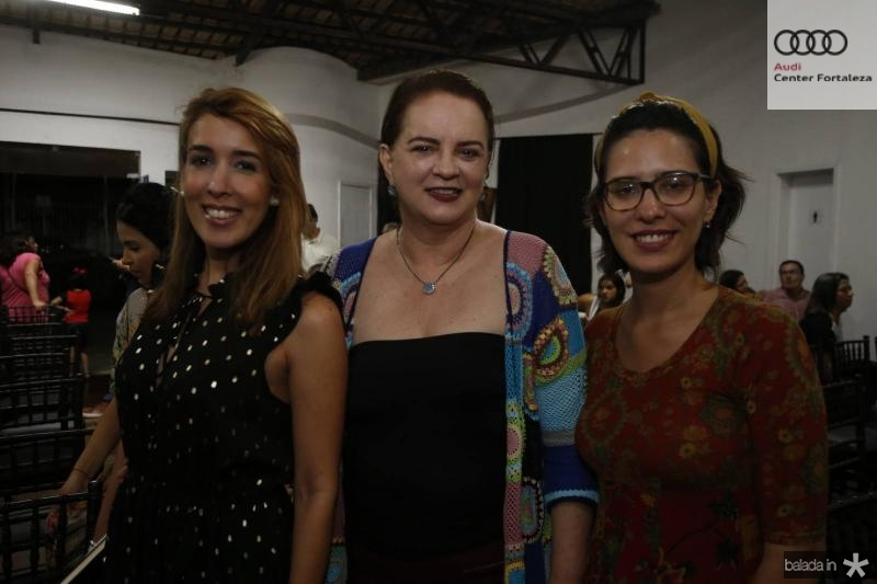 Raquel Machado, Ethel White Hust e Alice Frota