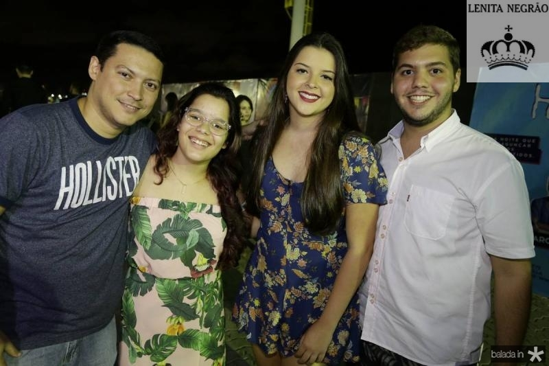 Carlos Lacerda, Tainah Carvalho, Bia Frota e Rodrigo Lopes