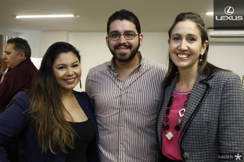 Luiza Dantas, Raul Viana e Alessandra Romano