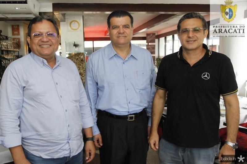 Andre Varela, Odmar Feitosa e Kleber Jorge