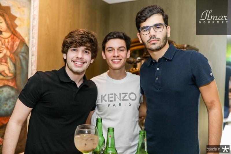 Odecio Thomaz, Miguel Freitas e Lucca Naspolini