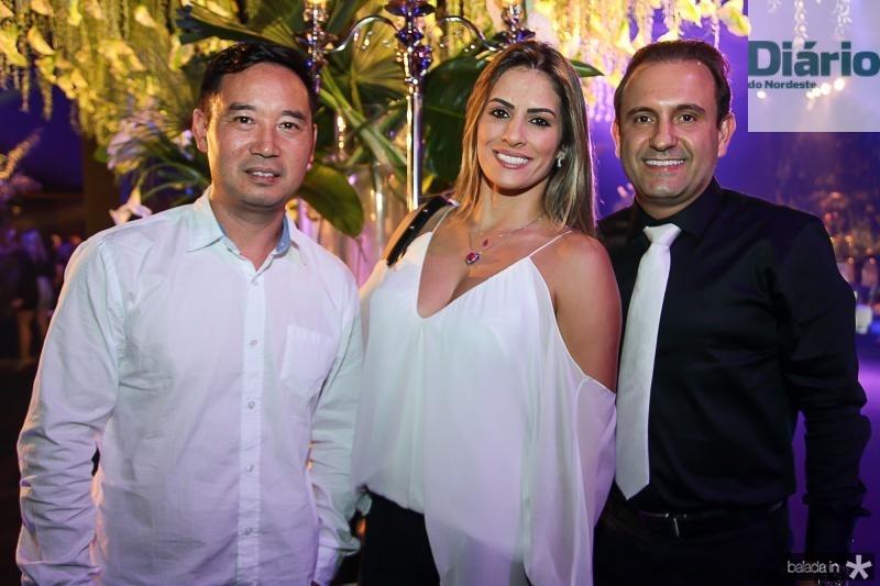 Kevin, Priscila Machado e Toni Santos