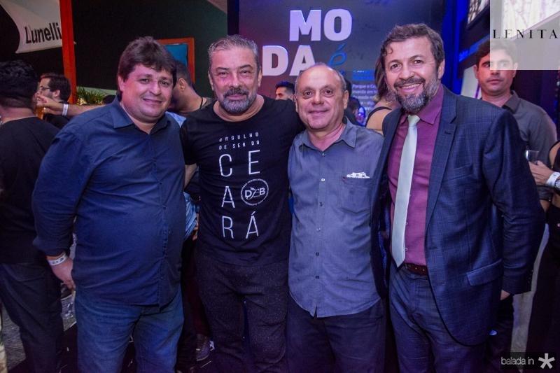 George Lima, Claudio Silveira, Aquiles Gomes e Elcio Batista