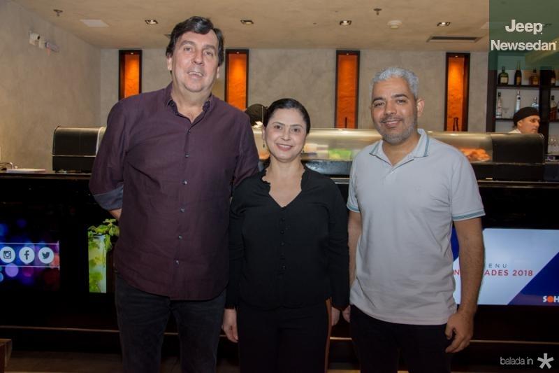 João Mendonca, Elza Ramos e Alexandre Melo