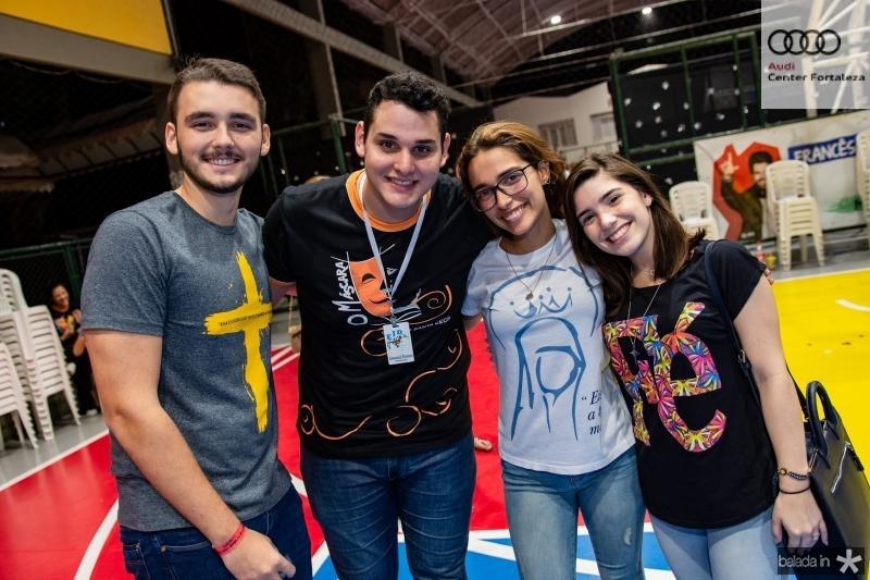 Vitor Aguiar, Samuel Pontes, Ana Luiza Sucupira e Larissa Cavalcante