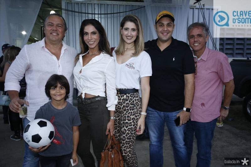 Claudio, Igor e Sinara Leal, Rebeca e Bruno Bastos e Carlos Eduardo Brandao