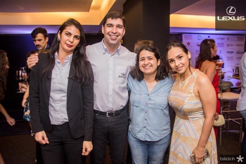 Sheila Diniz,  Jeferson Deywis, Daniele Gomes e Sara Ane Gomes