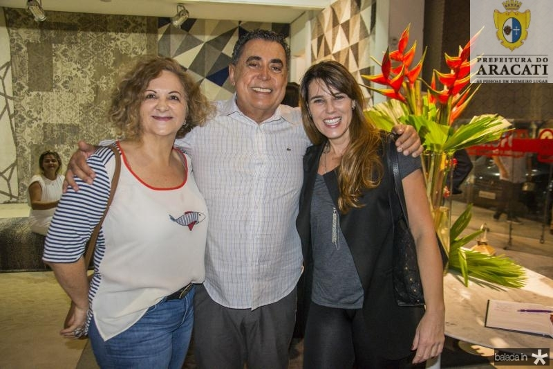 Helena Presoto, Adroaldo Carneiro e Lissandra Uttempergher