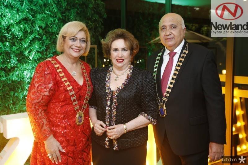 Priscila Cavalcante, Leda Maria e Epitacio Vasconcelos