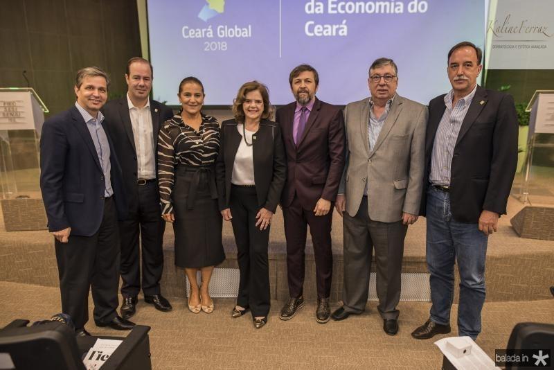 Romulo Soares, Cesar Ribeiro, Patricia Macedo, Roseane Medeiros, Elcio Batista, Maia Junior e Armando Abreu