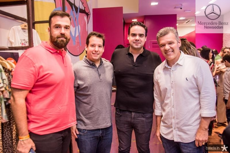 Ricardo Gonzales, Gabriel Joca, Victor Bayma e Ferruccio Feitosa