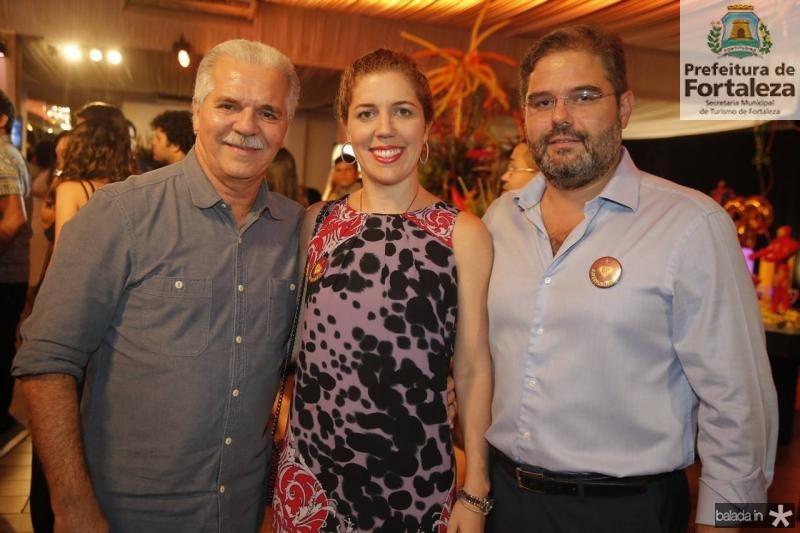 Pio Rodrigues, Ticiana e Edson Queiroz Neto