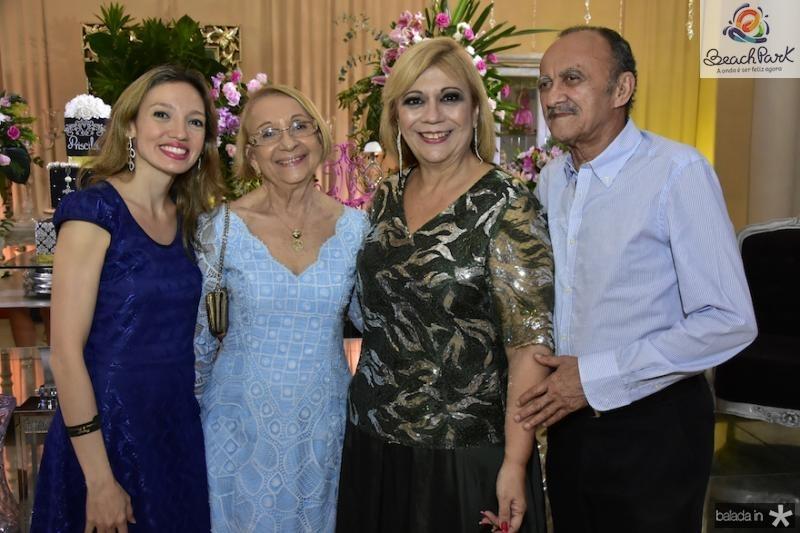 Camila e Evaneide Arrais, Priscila Cavalcanti e Firmo