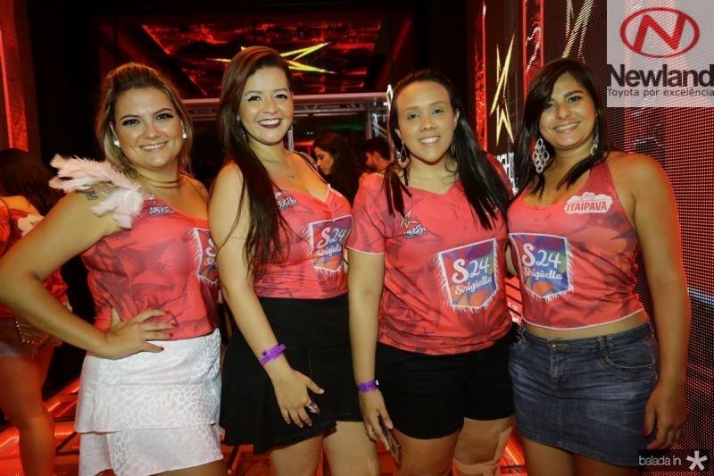 Isabelle Leone, Luciana Mocheu, Lorena Galvao e Juliana Calvet