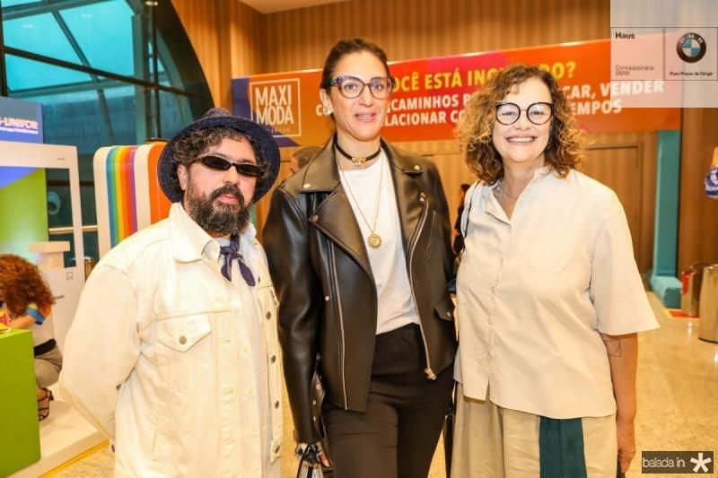 Jackson Araujo, Alexandra Fara e Beth Prado