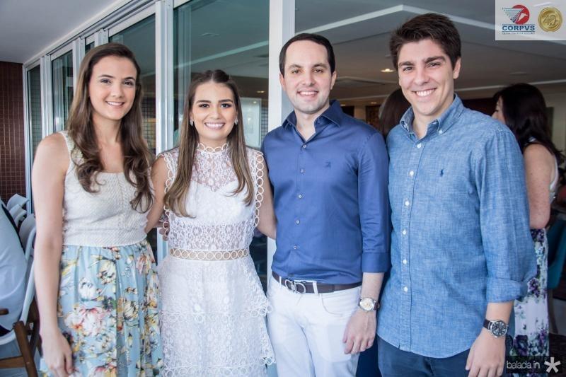 Paloma Verçosa, Manuela Câmara, Tomas Moraes e Carlos Almeida