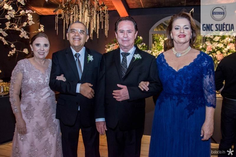 Zaida Camelo, Francisco de Assis Camelo, Cleto Pontes e Albanisa Dummar Pontes