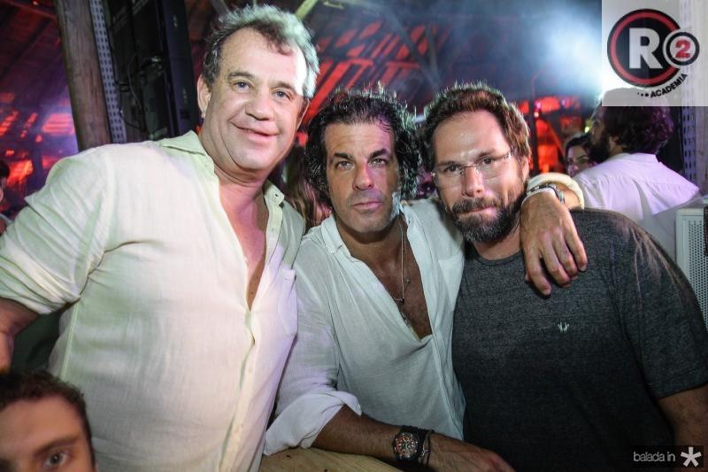 Ricardo Nibon, Alvaro Garneiro e Luis Antonio Valadares