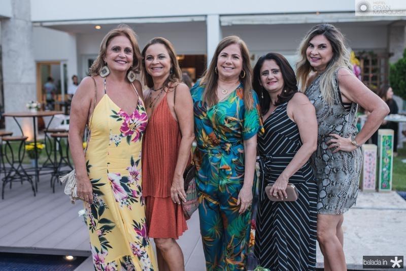 Zelma Gadelha, Vera Passos, Nilce Azevedo, Gilvana Benevides e Monica Miranda