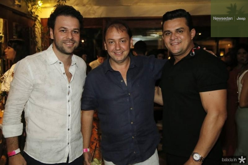 Geraldinho Rola, Ariston Araujo e Isaias Duarte